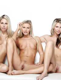 Nicole Willow,Heavens Gate,Three gorgeous blondes posing nude surrounded by white light.