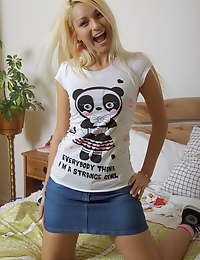 Dirty blonde teen enjoys rough anal sex