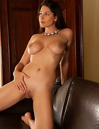"""""""Zafira A indulges her viewers in a fun and spontaneous tease, displaying her gorgeous, curvy body with large, puffy breasts and meaty thighs as"""